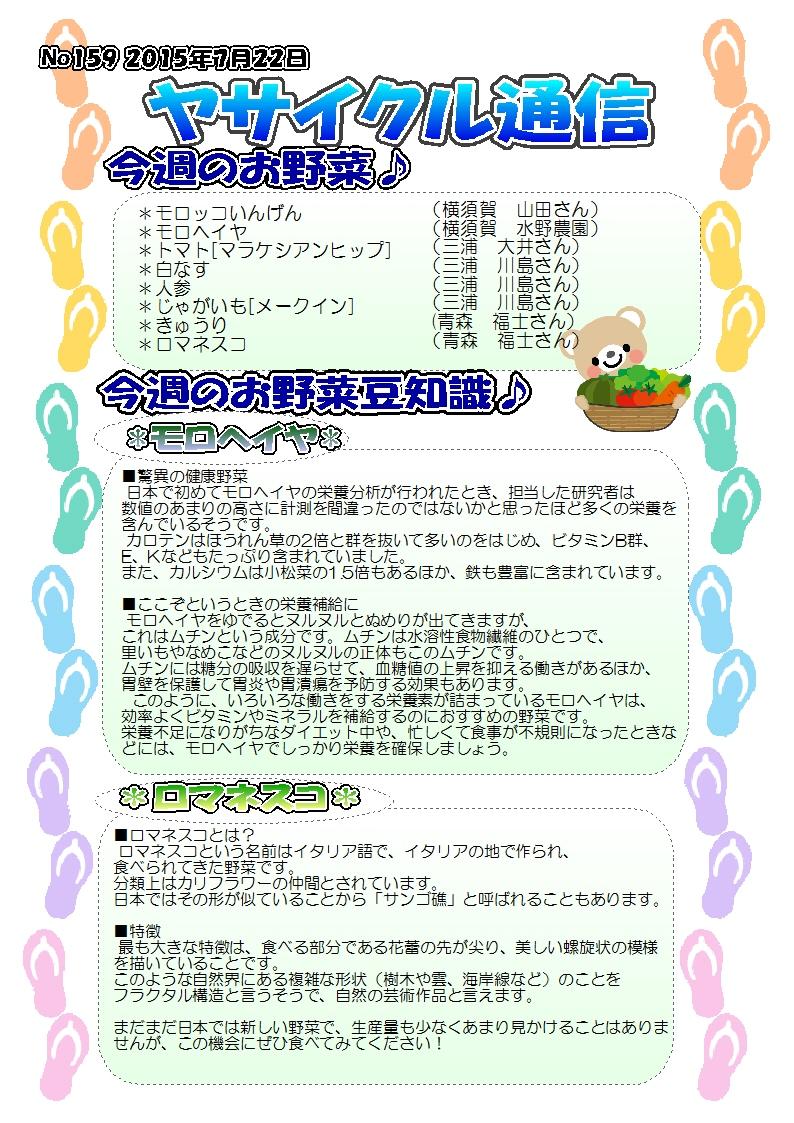ヤサイクル通信 No.159