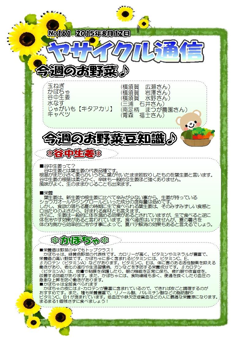 ヤサイクル通信 No.161