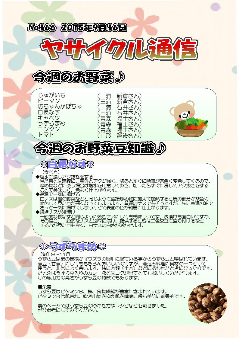 ヤサイクル通信 No.166